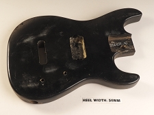 Black Double Cutaway Style Body Single HB