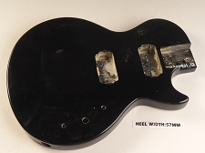 Black Single Cutaway Style Body 2HB Pickup Rout