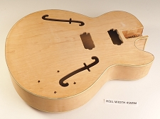 Unfinished Hollow-Body Single Cutaway Style Body 2HB Pickup Rout