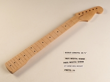 Double Cutaway Style Maple 21 Fret Neck - NO FRETS