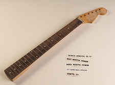 Double Cutaway Style Rosewood 21 Fret Neck - Needs new nut