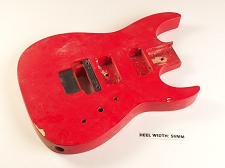 Red Double Cutaway Style Body 2HB Floyd® Style Trem Rout
