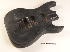 Black Double Cutaway Style Body 2HB Floyd® Style Trem Rout