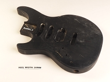 LEFTY Black Double Cutaway Style Body H/S/S Vintage Style Trem Rout