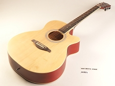 Natural Medium Jumbo Style Guitar Rosewood Fretboard 20 Fret