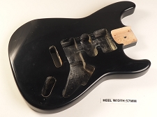 Black Double Cutaway Style Body H/S/H Vintage Style Trem Rout