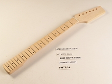 Double Cutaway Style Maple 21 Fret Neck Paddle Headstock