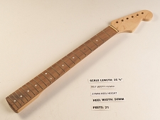 Double Cutaway Style Rosewood 21 Fret Neck - Shortened Fretboard End