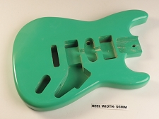 Seafoam Green Double Cutaway Style Body H/S/H Vintage Trem Route