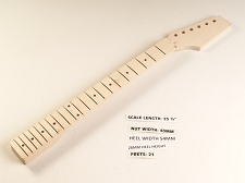 Single Cutaway Style Maple 21 Fret Neck - No Nut