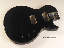 Black Single Cutaway Style Body 2HB