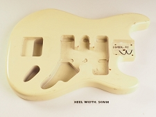 Cream Double Cutaway Style Body H/S/H Kahler Style Trem Rout