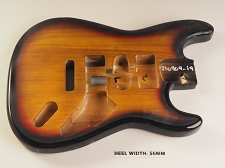 Unfinished Sunburst Double Cutaway Style Body H/S/H Vintage Trem Rout