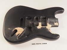 Black Unfinished Double Cutaway Style Body H/S/H Vintage Trem Rout