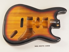 Sunburst Unfinished Double Cutaway Style Body H/S/H Vintage Trem Rout