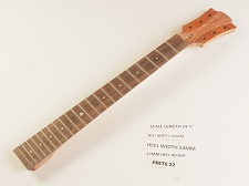 Single Cutaway Style Rosewood 22 Fret Neck Short Scale - NO NUT