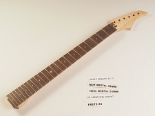 Double Cutaway Rosewood 24 Fret Neck - NO NUT