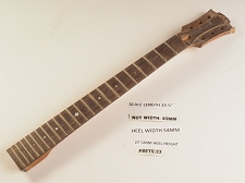 Single Cutaway Rosewood 22 Fret Neck - NO NUT