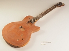 Unfinished Orange Flame Top Single Cutaway Guitar Rosewood Fret board 22 Fret 2HB As Is Guitar