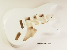 Aged White Double Cutaway Style Body H/S/H Vintage Style Trem Rout