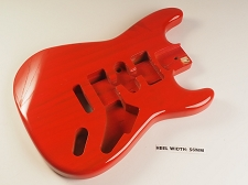 Transparent Red Double Cutaway Style Body H/S/H Vintage Style Trem Rout