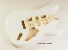 White Double Cutaway Style Body H/S/H Vintage Style Trem Rout