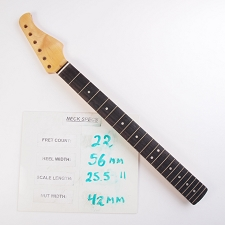 6 in Line, Finished, Maple Neck with Rosewood Fingerboard