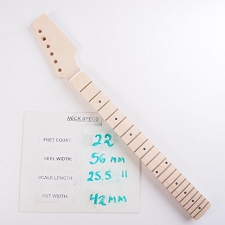 6 in Line, Unfinished, Maple Neck with Maple Fingerboard - Paddle Headstock