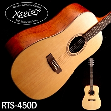 Xaviere ALL WOOD Dreadnaught Solid Spruce Top Bubinga