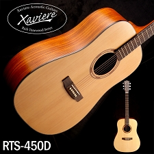 Xaviere ALL WOOD Dreadnaught Solid Spruce Top Zebrawood