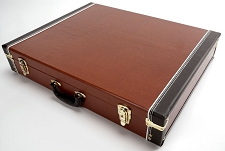 Premium Brown 6 Guitar Case- Folds to Briefcase! OUR BEST!