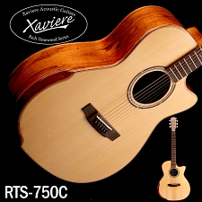 Spalted Maple Xaviere ALL WOOD Premium Cutaway Solid Spruce Top
