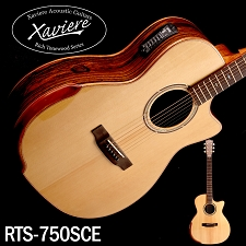 Laurel Negro Xaviere ALL WOOD Premium Acoustic/Electric  Cutaway Solid Spruce Top