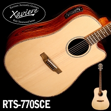 Laurel Negro Dreadnaught Xaviere Alaskan Spruce Top cutaway Acoustic/Electric