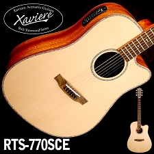 Zebrawood Dreadnaught Xaviere Alaskan Spruce Top cutaway Acoustic/Electric