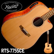 Spalted Maple CEDAR Top Dreadnaught Xaviere cutaway Acoustic/Electric