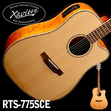 Quilted Maple CEDAR Top Xaviere cutaway Acoustic/Electric