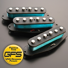 Boston Blues Alnico Pickups, Fits Strats® - Texas Wound- SUPER blues Power - Kwikplug™ Ready