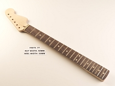 21 Fret Strat® Style Neck, Rosewood Fingerboard unfinished