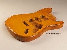Stratocaster® Style Body HSH, Quilted Maple Top Vintage Natural - Blemished