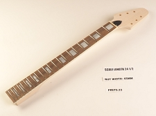BLEM Unfinished Flying V style bolt-on Neck. Maple with rosewood board- Bound block inlays.