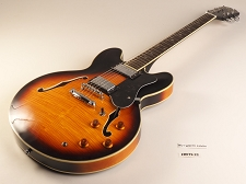 BLEM XV-900 Semi Hollowbody Flamed Maple Alnico Fat Pats Vintage Sunburst