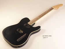 Blem - BOUND Black Double-Cutaway GLUED-IN Setneck, 2 Humbucker Rosewood F/B