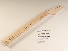 BLEM - Maple Unfinished Paddle headstock Neck - Fits Tele® - TRUE VINTAGE Skunk Stripe