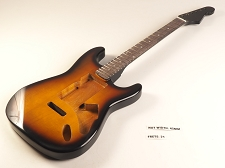 Blem - SPECIAL PURCHASE! Sunburst Double-Cutaway GLUED-IN Setneck, Swimming Pool Rout TOP, Rosewood F/B