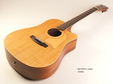 BLEM - Xaviere ALL WOOD Amber Acoustic/Electric Cutaway Raised Grain Dreadnaught