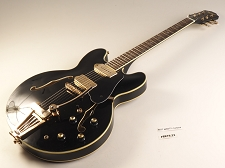 BLEM - XV-910 Semi Hollowbody Gold Hardware, Alnico P90s, Gloss Black - XTREM Installed