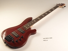LUTHIER SPECIAL - DLX Bass Active Preamp, Carved Body, 24 Fret Dakota Red