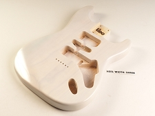Blem - Lido ST Hardtail Double cutaway Body Solid ASH Mary Kaye White