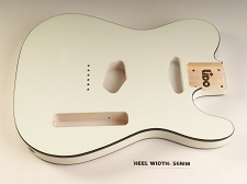 Blem - Lido TE Double Bound, Single cutaway Body Solid Poplar Arctic White